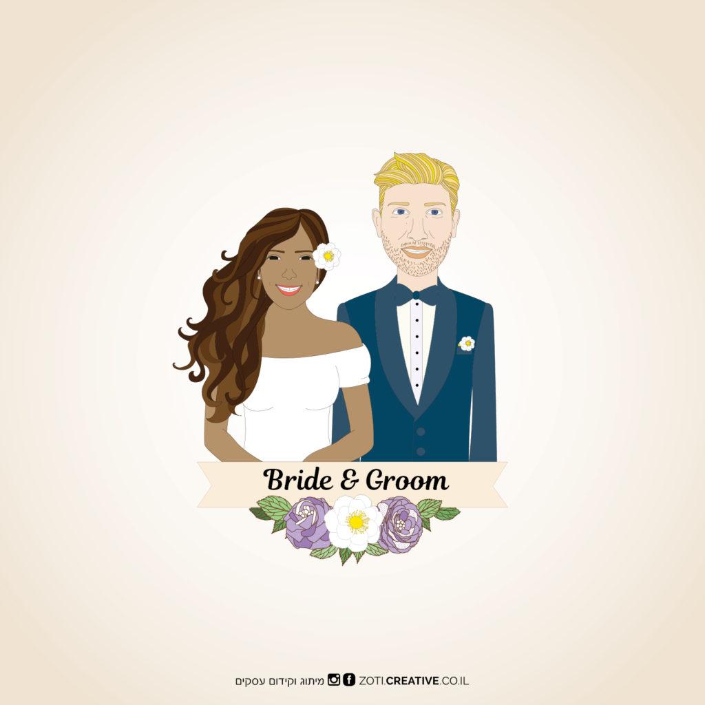 איור הזמנות לחתונה